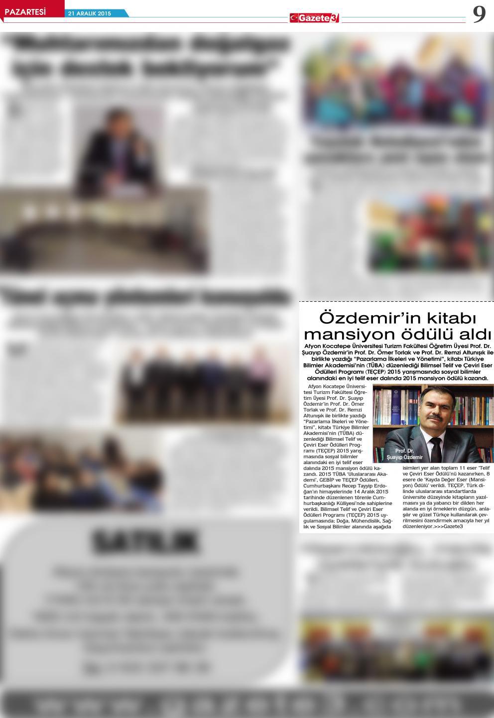 Şuayıp Özdemirin kitabı mansiyon ödülü aldı 2015-12-21-9