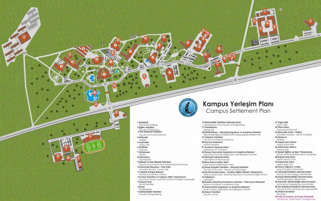 Afyon Kocatepe Üniversitesi ANS Kampüs Krokisi